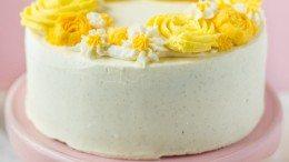 Gâteau couronne de fleurs