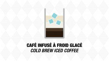Café infusé à froid glacé