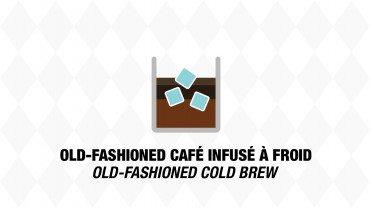 Old-fashioned au café infusé à froid