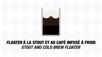 Floater à la Stout et au café infusé à froid