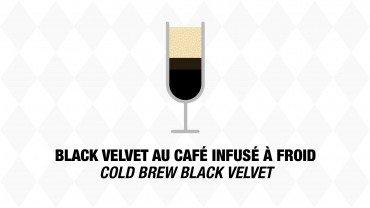 Black velvet au  café infusé à froid