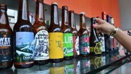 Folle de joie au Mondial de la bière