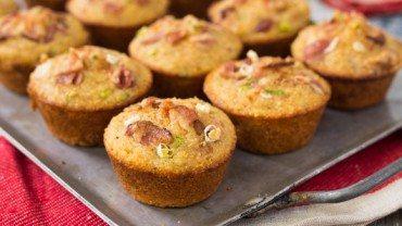 Muffins de maïs au bacon à l'érable