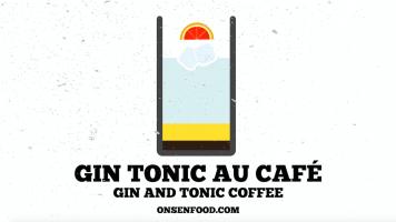 Gin tonic au café