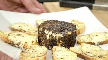 Entrées et dessert avec le fromage de sœur Angèle